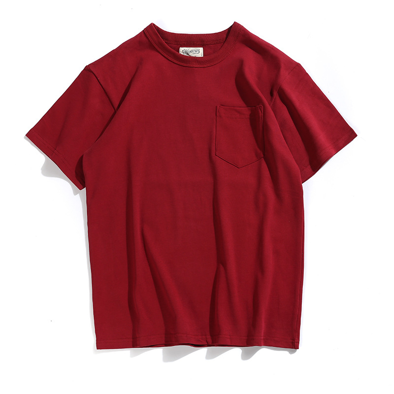 fashion loose fit oversize mens tshirts vintage 280gsm chest pocket top tee
