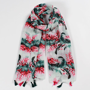 RM103 High Quality Fashion Bandana Luxury Cachecol Brand Cotton Women Shawl Print Scarf Shawl
