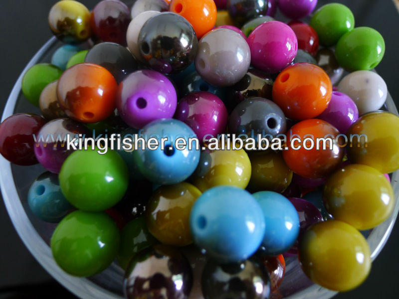 Beads & Jewelry Making Free Shipping 12mm 14mm Round Shape Acrylic Neon Colors Berry Beads Diy Jewelry Findings Ornament Accessory Plastic Spacer Beads Beads