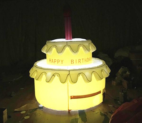 Giant birthday cake candles