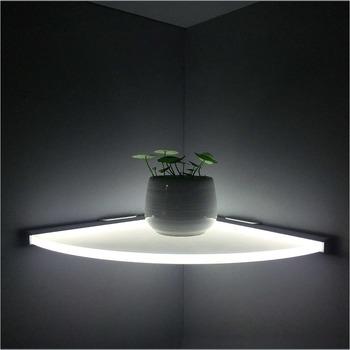 innovative aluminum kitchen wall mounted led illuminated corner shelf light buy wall mounted. Black Bedroom Furniture Sets. Home Design Ideas