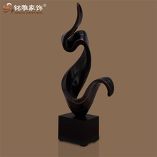 high quality modern abstract sculpture polyresin statue for office table decoration