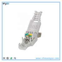 Tool-less RJ45 cat6 utp Gigabit Ethernet snap-in Connector