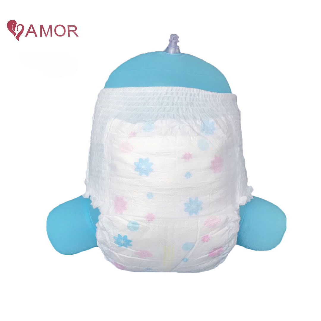 OEM Manufacturer 3D Leak Guards Soft and Breathable Custom printing Wetness Indicator Baby Pants Diaper