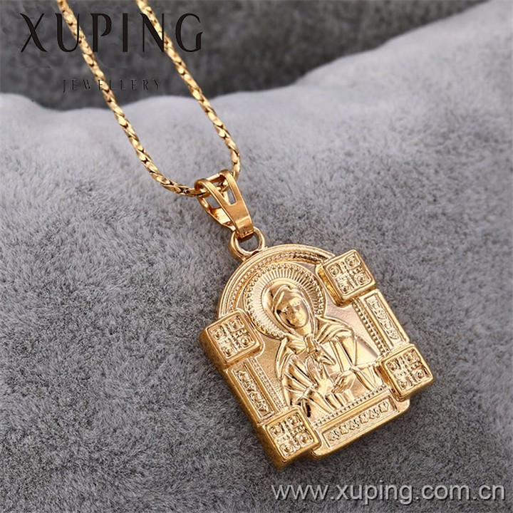 31934 Xuping 18k gold plated religious pendant for Christmas Gifts