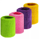 Amazon Wholesale Colorful Cotton Wrist Wraps Sleeve Sport Wristband Sweat Wrist Band for Men and Women