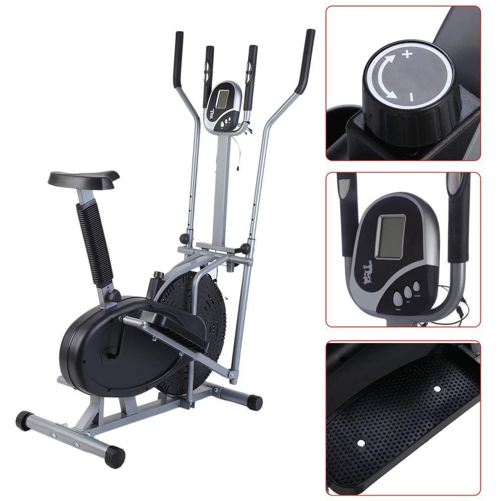 046b340b2946 Get Quotations · Home Elliptical Bike 2 In 1 Cross Workout Trainer  Ultra-Quiet Home Fitness Equipment cardio