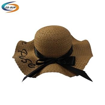 94dc2edaf0d Cosum wholesale hot sale fashion mexican wide brim sun beach straw hat for  women