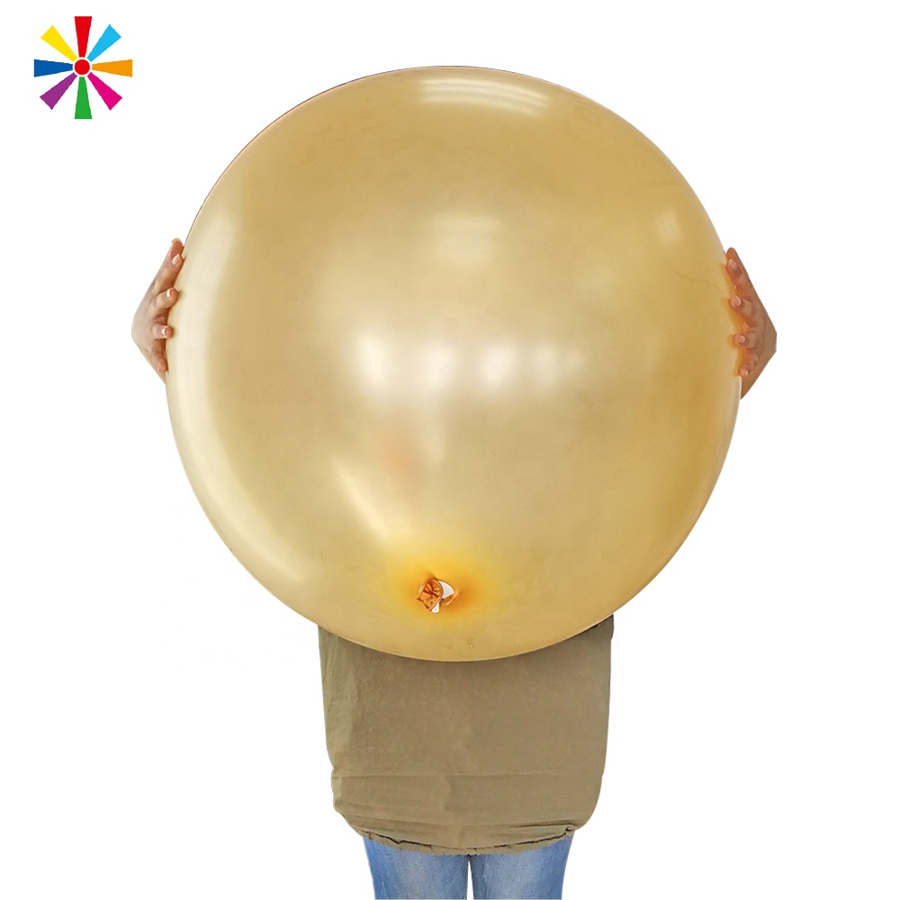 Grote Enorme Big Metallic Gold Ronde Wit Roze Clear Helium Giant 90 cm Latex Ballon Ballonnen