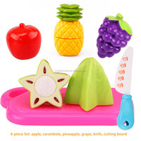 Children Wooden Kitchen Toys Cutting Fruit Vegetable Play Miniature Food Kids Wooden Baby Early Education Food Toy