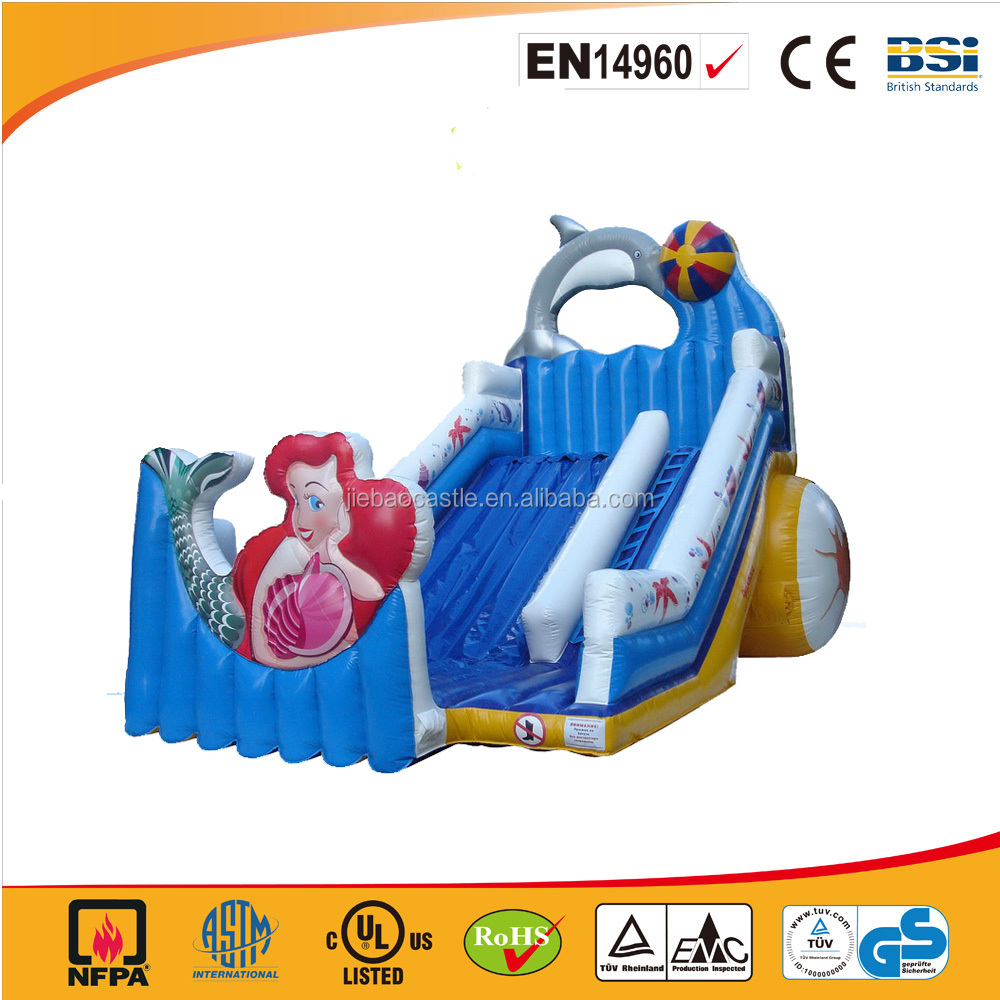 2016 Mermaid INFLATABLE SLIDE BOUNCER /commercial giant inflatable slide for adults