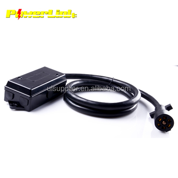 S20233 7 Way Junction Box With 7 Wire Rv Cable Wire And Plug - Buy ...