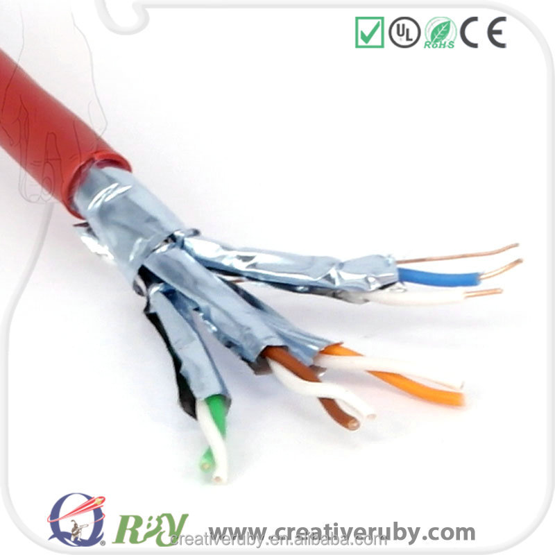 Factory price Cat7 FFTP bare copper network cable
