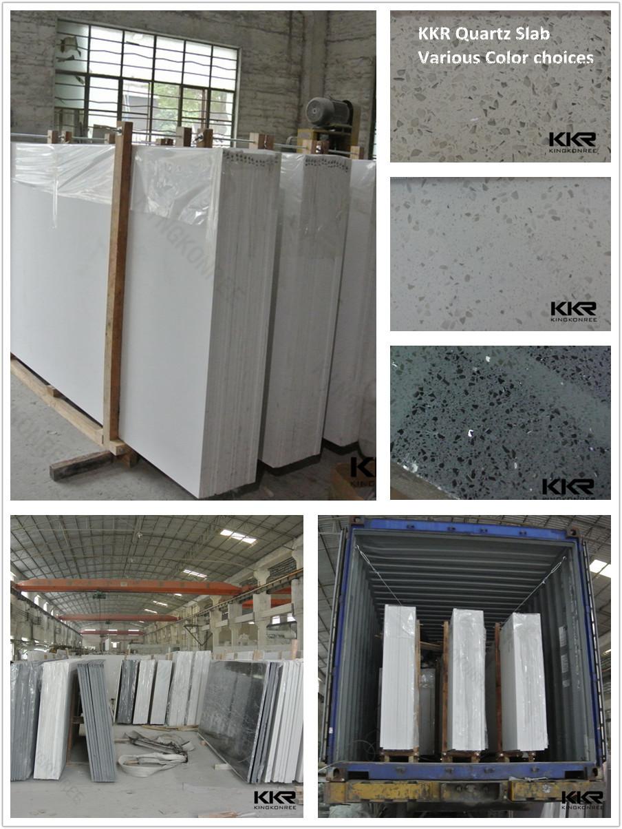 Kingkonree artificial quartz stone building material buy for Cheap house materials