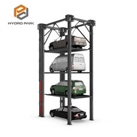 Multi-level Four Post Car Stacker Hydraulic Car Parking Lift System
