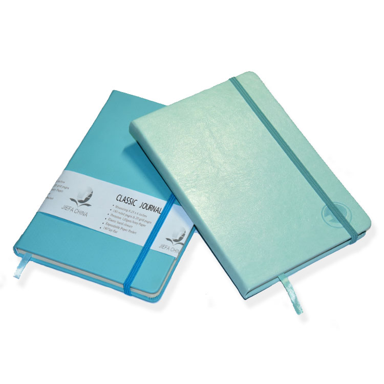 Academic A5 Logo Customized Pocket Notepad PU Leather Diary Note Book Custom Elastic band Hardcover Planner Journal Notebook