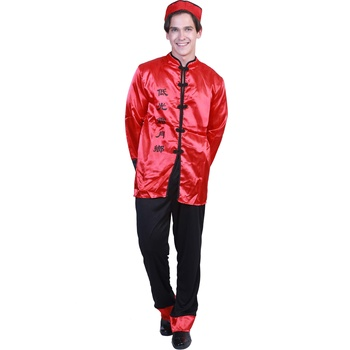 2019 New hot Adult Chinese man cosplay costumes suit with Chinese words Halloween costume for carnival party