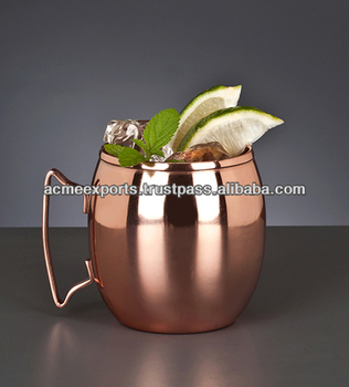 Copper Plated Mugs ~ Stainless Steel lined copper mugs