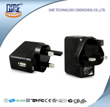 black/white 5v 2a usb power adapter with complete certificates