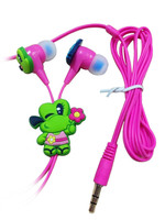 3D earbuds manufacturing headphone cheap in-ear animal earphone with silicone earphone rubber cover