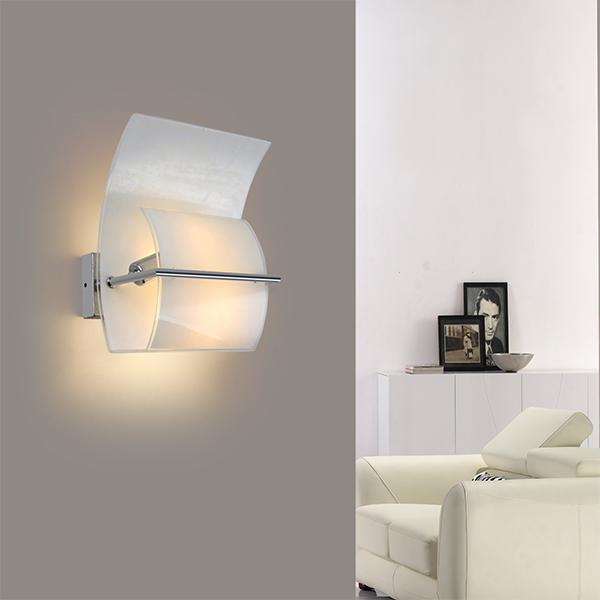 luz de pared lmpara de pared del dormitorio moderno elegante vidrio - Lamparas De Pared