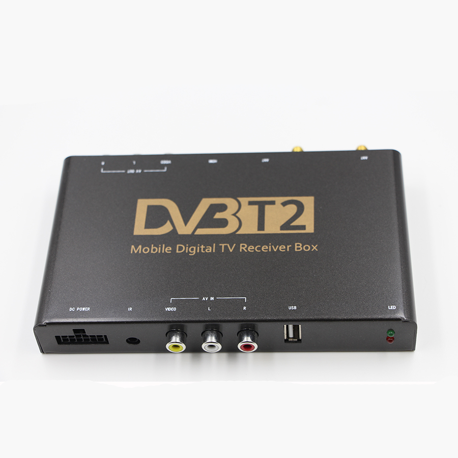 Mpeg4 h264/H.265/HEVC usb Mobile digital car dvb-t2 tv tuner ricevitore box, compatibile con DVB-T TV programmi