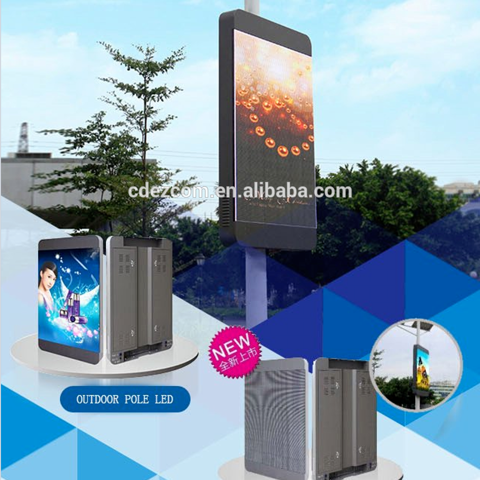 P4 P5 P6 P7 P8 P10 P16 Outdoor Lamp Post Pole LED Screen for Advertising