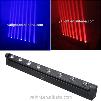 8*10w 4in1 quad led moving led pinspot sweeper beam