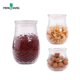 Round glass herb bottle potatoes storage jar canning jars with glass lid