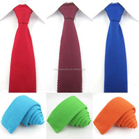 Solid Knitted Narrow Slim Woven Necktie