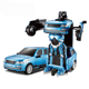 popular toy robot transformation remote control car with music