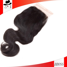 machine made closure kinky curly hair 5a