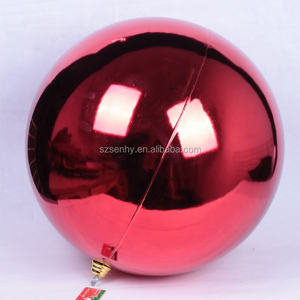 Shatterproof high quality hanging big christmas ball/ giant christmas ball