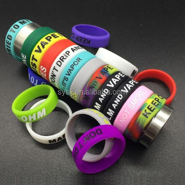 High quality vape band customed rubber silicone vape band glow in the dark silicone ring o rings