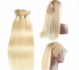 double drawn thick 6A 7A 8A virgin human european hair color 613 blonde european hair
