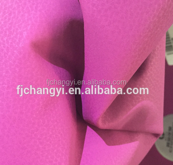 PU coated faux leather for making sofa and furniture,bags,car seat,etc