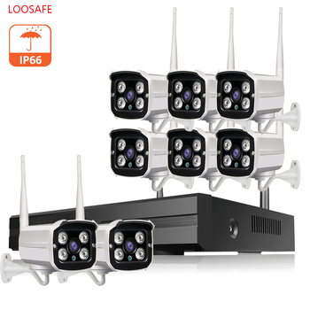 8CH CCTV System Wireless 1080P NVR With HD 2.0MP Outdoor Infrared Waterproof Wifi Security Camera system Surveillance Kit