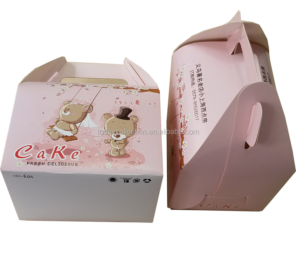cake paper box packaging with your own logo