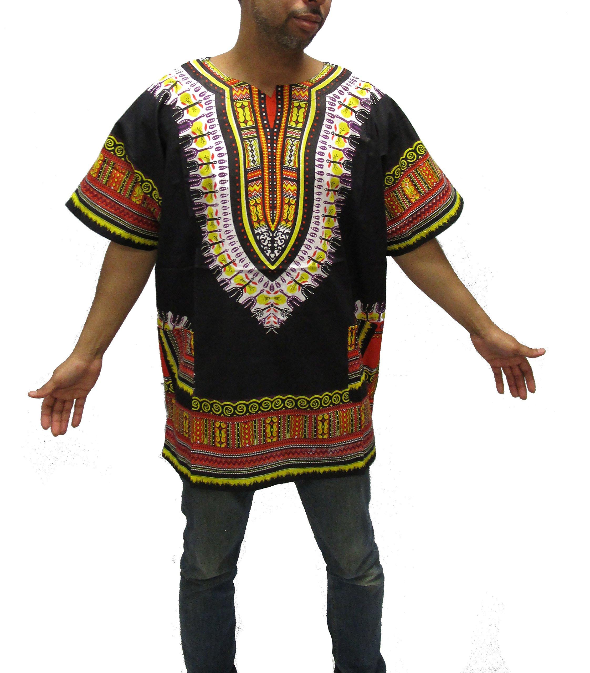 Chouron Mens Short Sleeve African Dashiki Embroidered Collar Shirt Hippie Gentleman Shirt
