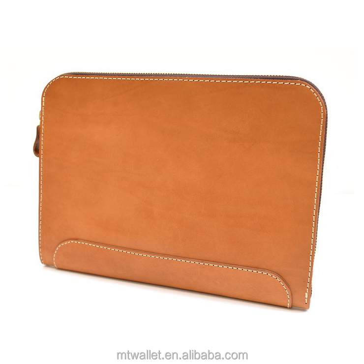 Genuine leather laptop pc case briefcase