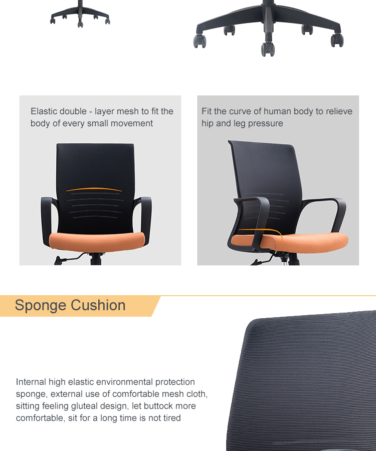 Foshan wholesale high quality best ergonomic executive staff used modern adjustable mesh office chair with wheels
