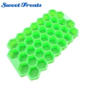 Sweettreats 37 Ice Cubes Honeycomb Ice Cream Maker Form DIY Pops Mould Popsicle Molds Yogurt Ice Tools