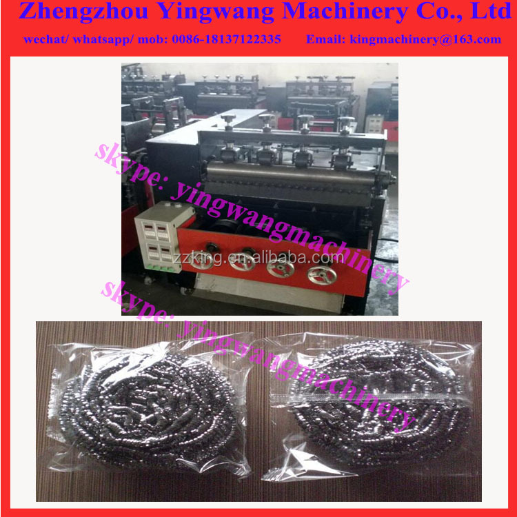 Wire mesh steel cleaning ball making knitting machine