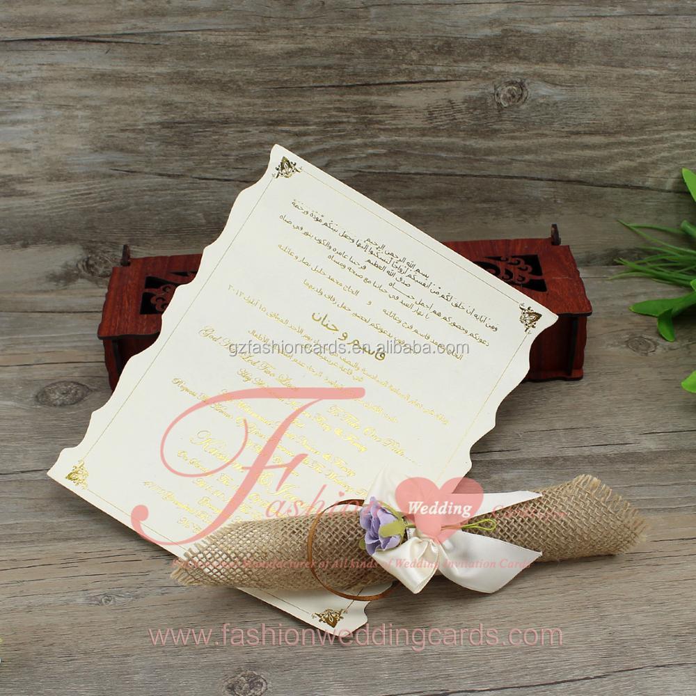 Alibaba Party Supplier Wood Material Custom Rustic Burlap Wedding ...