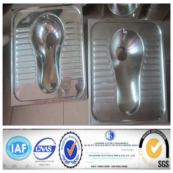 Prison Use Stainless Steel combination toilet P-trap