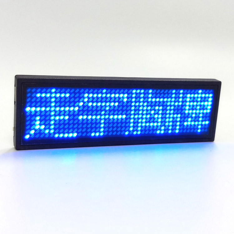 Blue LED Name Badge,Reusable Price Tag Rechargeable LED Business Card <strong>Screen</strong> with USB Programming Digital Sign Temperature tag