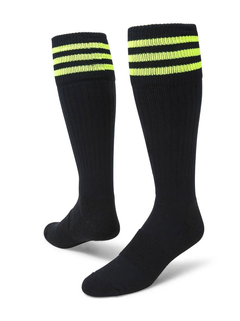 Red Lion Mach III Athletic Sport Wear High Knee Socks ( Black / Neon Green - Large )