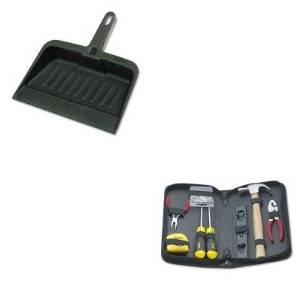 KITBOS92680RCP2005CHA - Value Kit - Stanley General Repair Tool Kit in Water-Resistant Black Zippered Case (BOS92680) and Rubbermaid-Chrome Heavy Duty Dust Pan (RCP2005CHA)