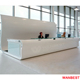 High Gloss Artificial Marble White Office Restaurant Clinic Standing Reception Desk Front Table