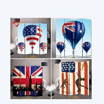 4 pieces decorative folding screens canvas print bedroom wall dividers